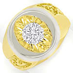 Designer Diamantring mit 1,11ct Brillant Solitär in 18K