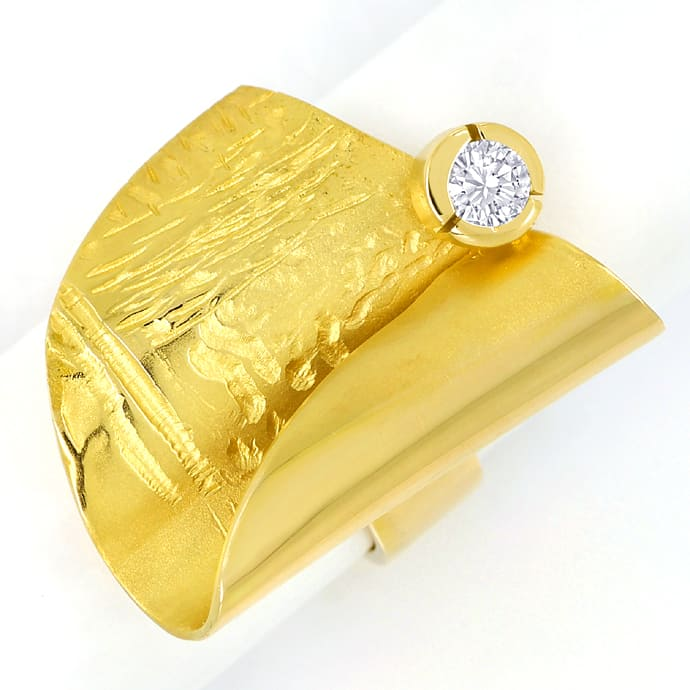 Foto 2, Design Kollier Ring Ohrringe mit Brillanten massiv Gold, S1356