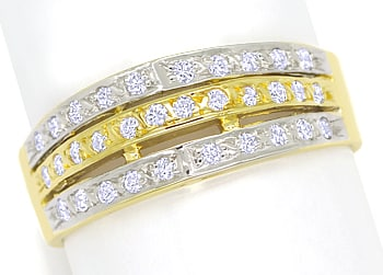 Foto 1, Diamantbandring Pavee mit 0,32ct Brillanten 14K Gold, S1357