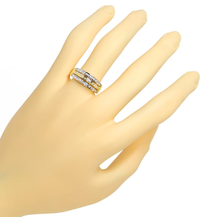 Foto 4 - Diamantbandring Pavee mit 0,32ct Brillanten 14K Gold, S1357