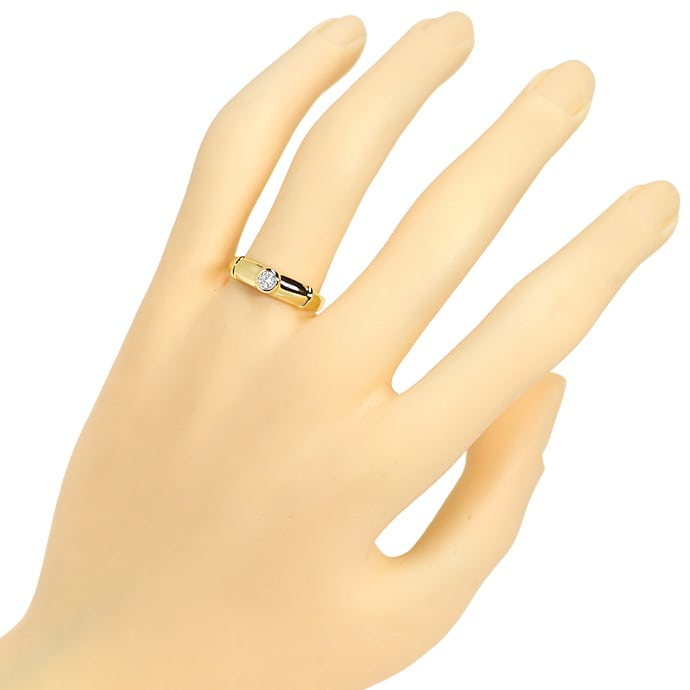 Foto 4 - Diamantring mit 0,13ct River Brillant in 585er Gelbgold, S1375