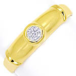 Diamantring mit 0,13ct River Brillant in 585er Gelbgold