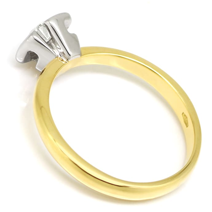 Foto 3 - Goldring mit 0,73ct Brillant Solitär 750er Bicolor Gold, S1379