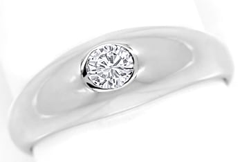 Foto 1 - Diamantbandring mit 0,19ct River Brillant 14K Weissgold, S1388