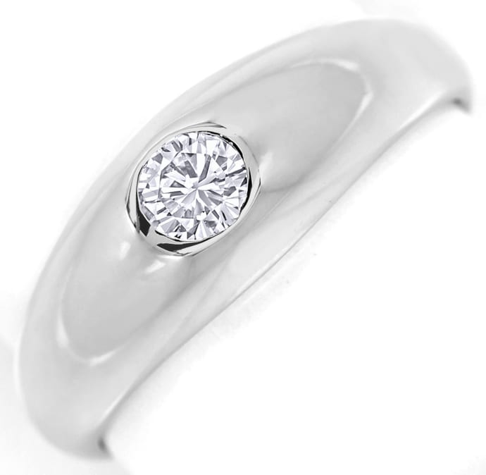 Foto 2 - Diamantbandring mit 0,19ct River Brillant 14K Weissgold, S1388
