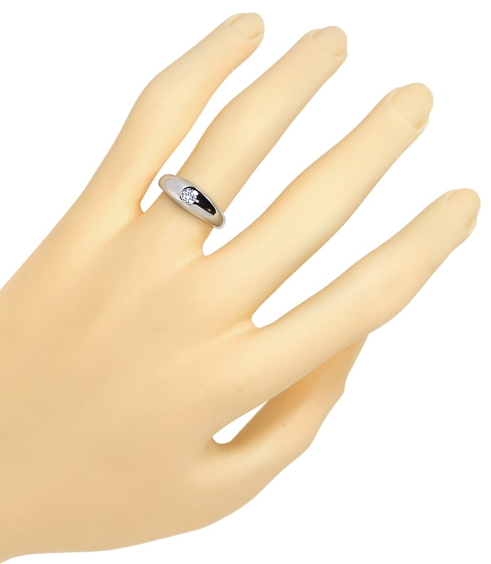 Foto 4 - Diamantbandring mit 0,19ct River Brillant 14K Weissgold, S1388