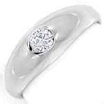 Diamantbandring mit 0,19ct River Brillant 14K Weissgold