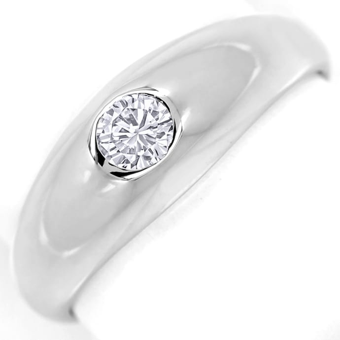 Diamantbandring mit 0,19ct River Brillant 14K Weissgold, Designer Ring
