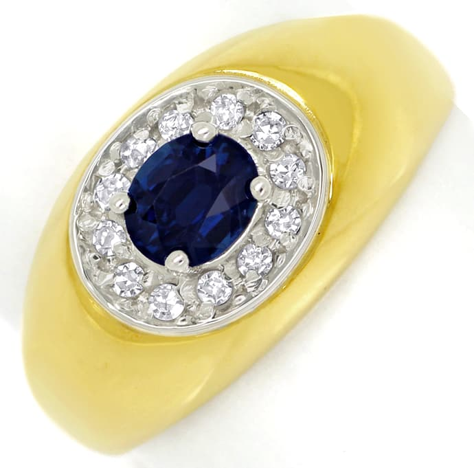 Foto 2 - Diamantbandring mit 0,5ct blauem Safir 0,15ct Diamanten, S1395