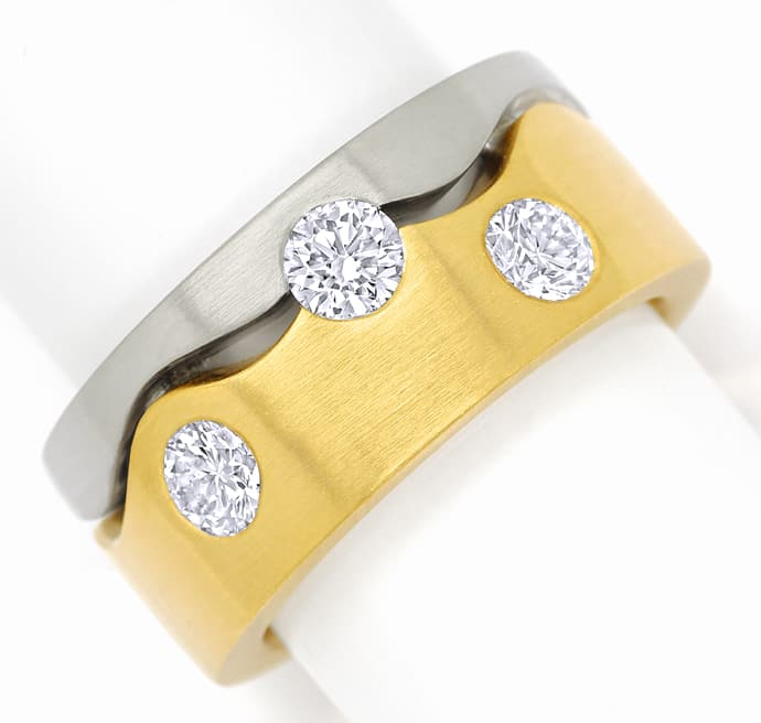 Foto 2, Diamantring mit 1,37ct Brillanten extra massiv Gold 18K, S1406