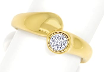 Foto 1, Diamantring mit 0,31ct Brillant Solitär in 14K Gelbgold, S1413