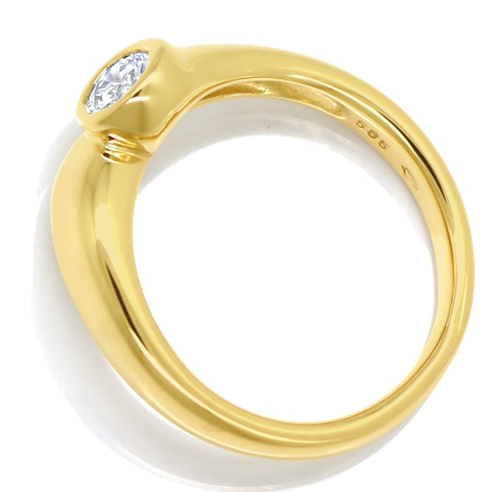 Foto 3, Diamantring mit 0,31ct Brillant Solitär in 14K Gelbgold, S1413