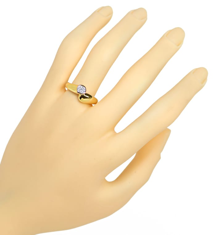 Foto 4, Diamantring mit 0,31ct Brillant Solitär in 14K Gelbgold, S1413