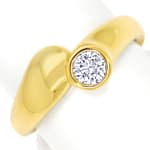 Diamantring mit 0,31ct Brillant Solitär in 14K Gelbgold