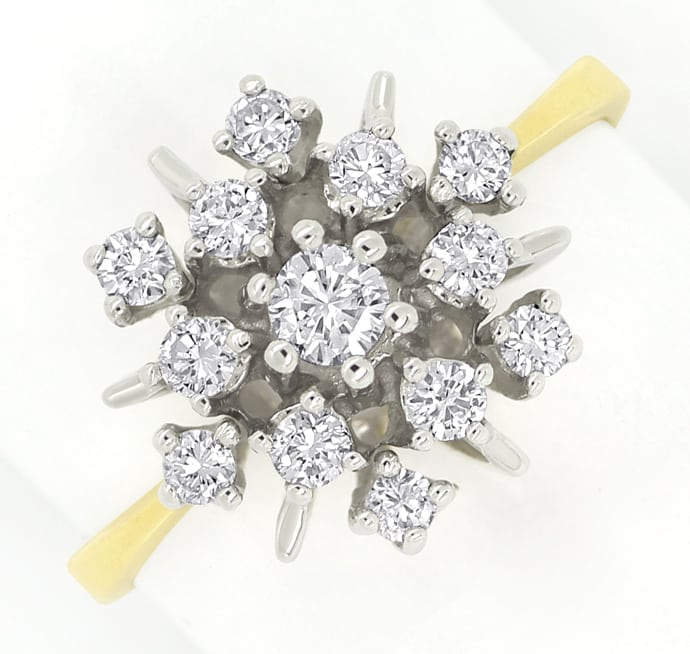 Foto 2 - Ring mit 0,50ct Spitzen Brillianten in 14K Bicolor Gold, S1422