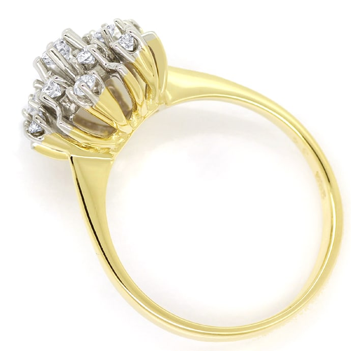Foto 3, Ring mit 0,50ct Spitzen Brillianten in 14K Bicolor Gold, S1422