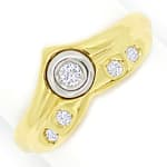 Designer Diamantring mit 0,14ct Diamanten in 585er Gold
