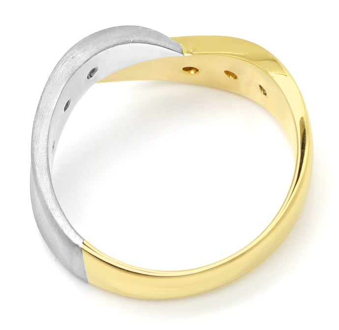 Foto 3 - Diamantring mit 0,12ct Brillanten in Gelbgold Weissgold, S1425