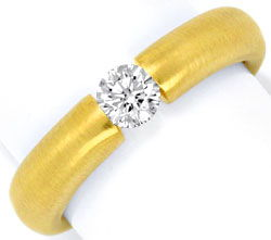 Foto 1, Brillant Diamantspannring massiv 18K Gold 0,35ct Luxus!, S1434