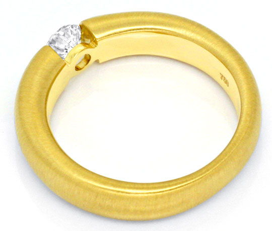 Foto 3, Brillant Diamantspannring massiv 18K Gold 0,35ct Luxus!, S1434