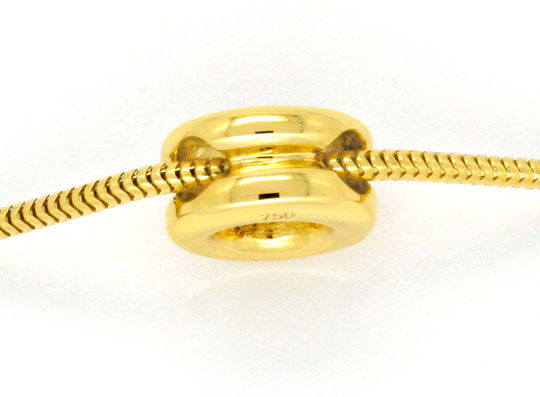 Foto 3, Diamant Kollier 0,38 Brilliant F VS 18K Gelbgold Luxus!, S1441