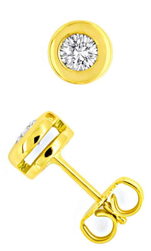 brilliant diamant zargen ohrringe ohrstecker 18k luxus s1454. Black Bedroom Furniture Sets. Home Design Ideas