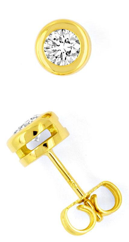 brilliant diamant ohrstecker 0 65ct 18k gelbgold luxus s1456. Black Bedroom Furniture Sets. Home Design Ideas