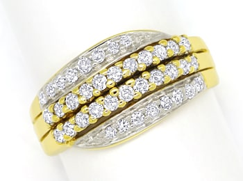 Foto 1, Dekorativer Damenring mit 0,5ct Diamanten in 585er Gold, S1463