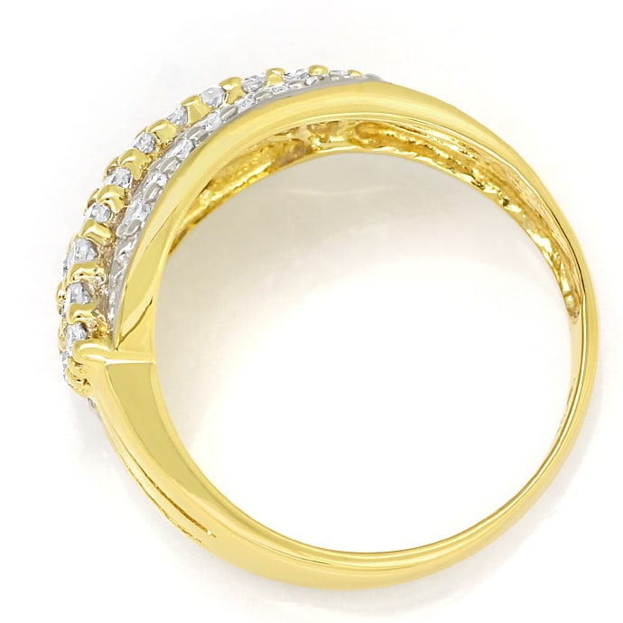 Foto 3, Dekorativer Damenring mit 0,5ct Diamanten in 585er Gold, S1463
