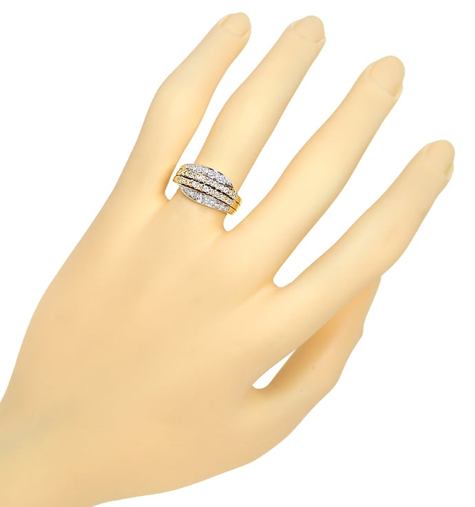 Foto 4, Dekorativer Damenring mit 0,5ct Diamanten in 585er Gold, S1463