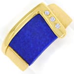 Design Ring Lapislazuli und Brillianten in 18K Gelbgold