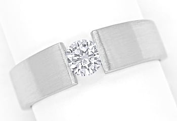 Foto 1, Diamantspannring mit 0,33ct Brillant in 585er Weissgold, S1495