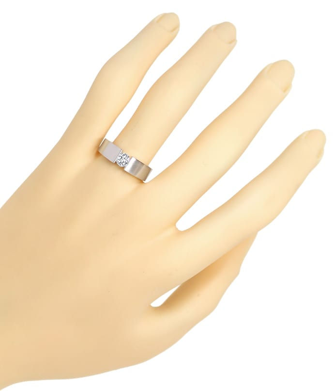 Foto 4, Diamantspannring mit 0,33ct Brillant in 585er Weissgold, S1495