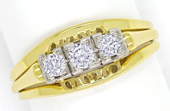 Foto 1 - Diamantenring mit 0,27ct Brillanten Handarbeit 14K Gold, S1509
