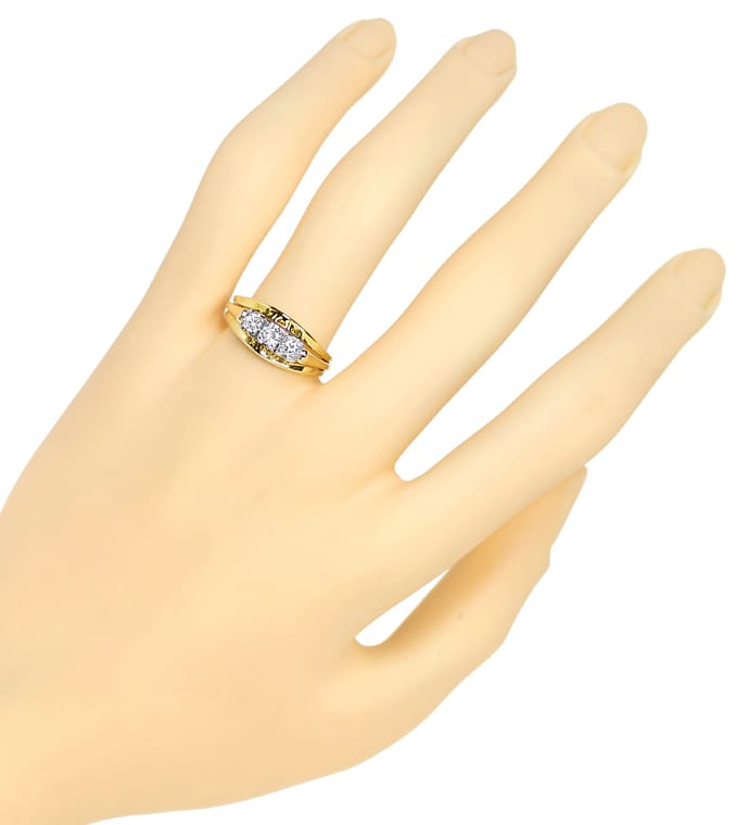 Foto 4 - Diamantenring mit 0,27ct Brillanten Handarbeit 14K Gold, S1509
