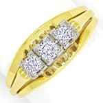 Diamantenring mit 0,27ct Brillanten Handarbeit 14K Gold