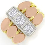 ArtDeco Diamantenring 0,86ct Diamanten in Tricolor Gold