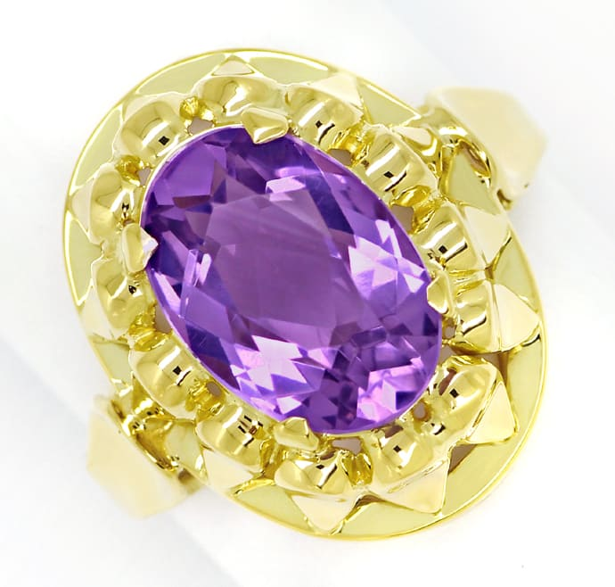 Foto 2 - Amethyst 4,3ct in attraktivem Damenring in 14K Gelbgold, S1539
