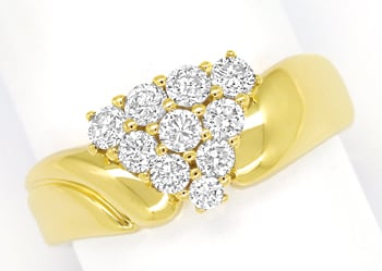 Foto 1, Diamantbandring in edelem Design 0,75ct Brillanten Gold, S1577