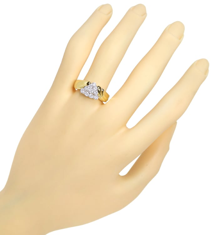 Foto 4, Diamantbandring in edelem Design 0,75ct Brillanten Gold, S1577