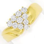 Diamantbandring in edelem Design 0,75ct Brillanten Gold