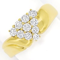 zum Artikel Diamantbandring in edelem Design 0,75ct Brillanten Gold, S1577