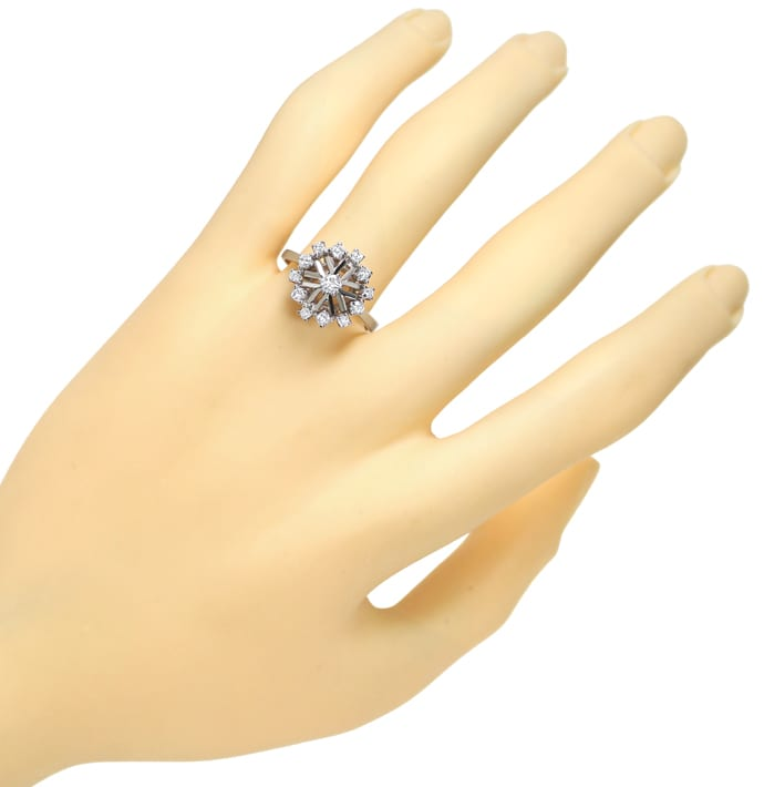 Foto 4 - Edler Diamantring mit 0,51ct Diamanten in 14K Weissgold, S1585