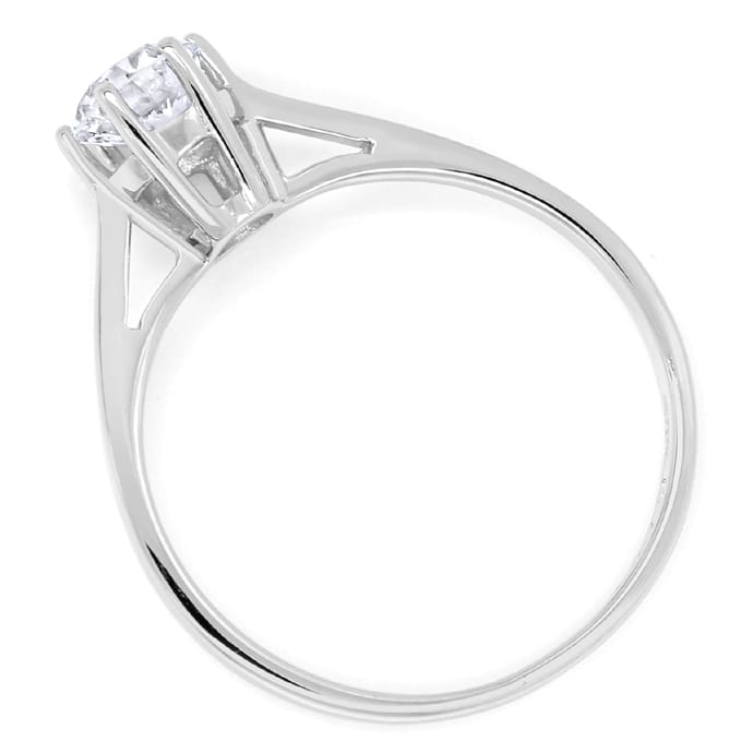 Foto 3 - Diamantring mit 0,48ct Brillant Solitär in 14K Weißgold, S1596