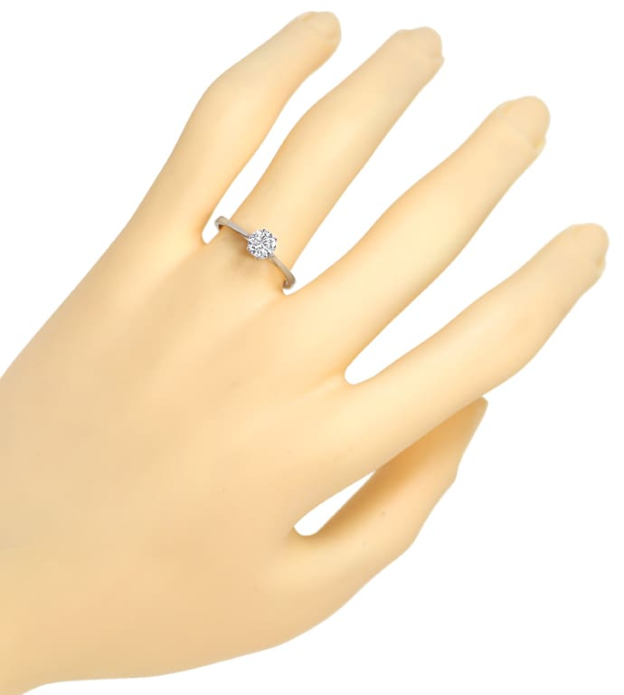 Foto 4 - Diamantring mit 0,48ct Brillant Solitär in 14K Weißgold, S1596