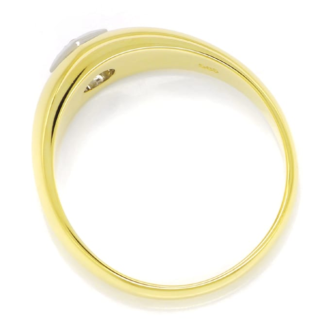 Foto 3, Diamantbandring 0,14ct lupenreiner Brillant massiv Gold, S1628