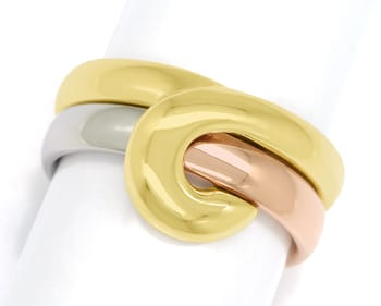 Foto 1, Cantelli Design Ring Knoten zweiteilig in Tricolor Gold, S1677