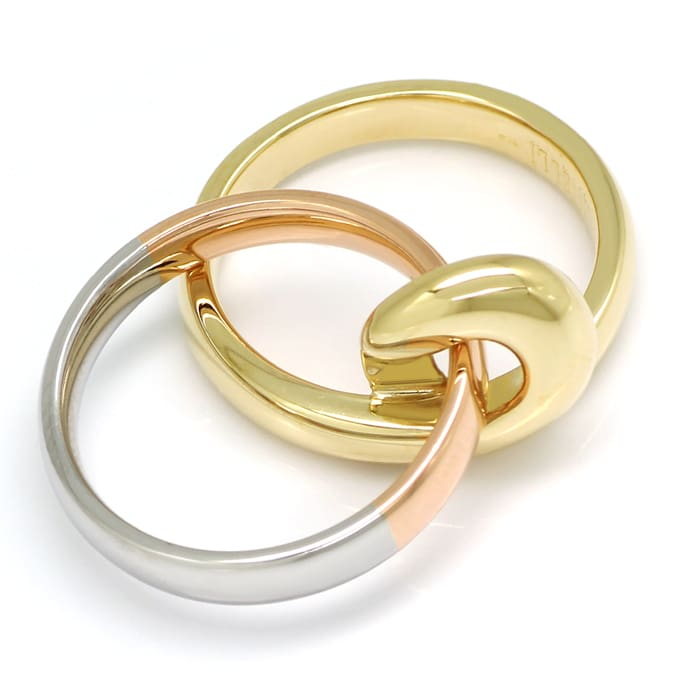 Foto 3, Cantelli Design Ring Knoten zweiteilig in Tricolor Gold, S1677