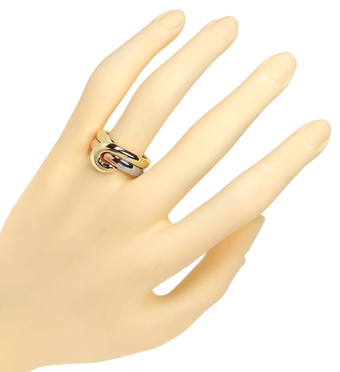 Foto 4, Cantelli Design Ring Knoten zweiteilig in Tricolor Gold, S1677