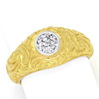 zum Artikel Massiver Diamantring 0,56ct H VS Altschliff in 18K Gold, S1692